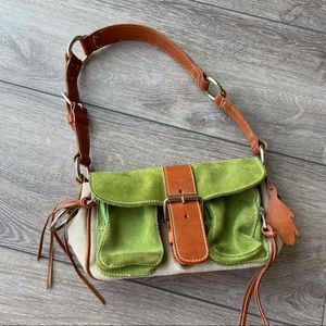 Roots Small Emily Suede Leather Shoulder Bag